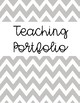 Teaching Portfolio Cover Pages and Tab Labels (Gray Chevron)