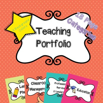 teaching portfolio with cute graphics by learn itlive it