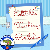 Teaching Portfolio Cover and Dividers with Checklist EDITABLE