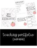 Marble Teaching Portfolio  (EDITABLE)