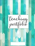Teaching Portfolio Editable: Green