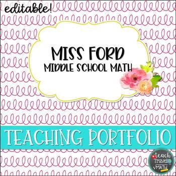 Teaching Portfolio Floral Squiggles | EDITABLE