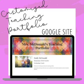Teaching Portfolio Google Website - Danielson Model