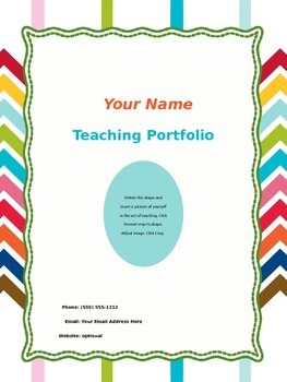 Teaching Portfolio Kit Rainbow Chevron/Stripes