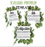 Teaching Portfolio-Template Pages-EDITABLE