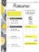 Teaching Portfolio - Yellow and Black Floral