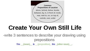 Teaching Prepositional Phrases with Art Projectable