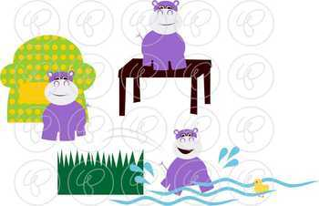 Teaching Prepositions Clipart and Flashcards by Poppydreamz NOW WITH LINE ART!