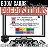 Teaching Prepositions Speech Therapy BOOM Cards™   Teach Tool