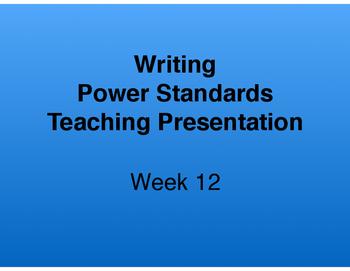 Teaching Presentations Week 12 - Writing Power Standards -
