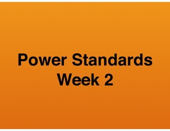 Teaching Presentations Week 2 - Language Arts Power Standa