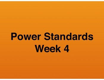 Teaching Presentations Week 4 - Language Arts Power Standa