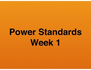 Teaching Presentations Week 1 - Language Arts Power Standards - Grade Six