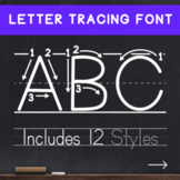 Teaching Print - Dotted Letters Tracing Font - Handwriting for Young Learners