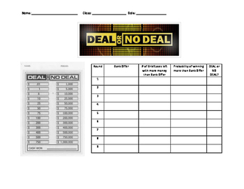 Teaching Probability with Deal or No Deal