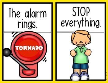 Teaching Procedures {A Tornado Drill at School} Mini Posters Back to School