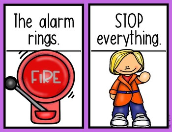 Teaching Procedures {A Fire Drill at School} Mini Posters Back to School