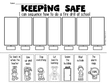 Teaching Procedures {How To Do a Fire Drill} Sequence Activity