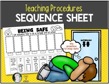 Teaching Procedures {How To Do a Tornado Drill} Sequence Activity
