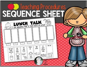 Teaching Procedures {How To Have Lunch at School} Sequence Activity