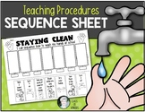 Teaching Procedures {How To Wash Hands at School} Sequence Activity