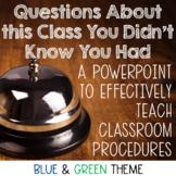 Back to School- Teaching Classroom Procedures PowerPoint