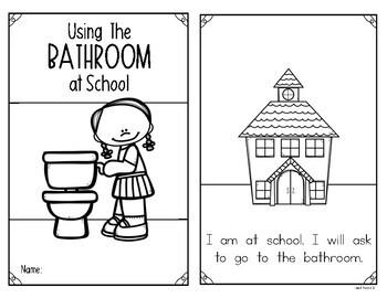 Teaching Procedures {The Bathroom At School } Reader for Kindergarten & First