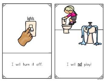 Teaching Procedures The Bathroom At School Reader For Kindergarten First