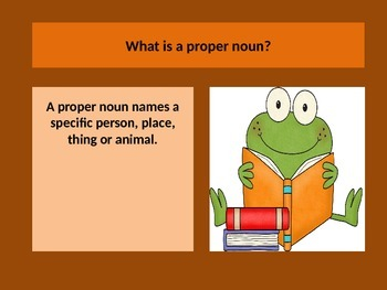 Teaching Proper Nouns through Power Point Presentation.  Lesson.