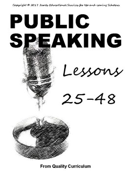 Teaching Public Speaking to Children - Lessons 25 through 48