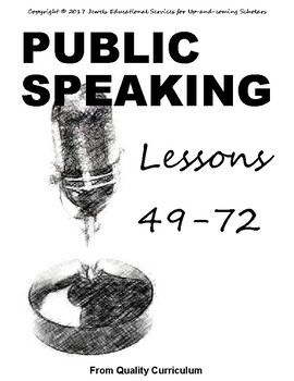 Teaching Public Speaking to Children - Lessons 49 through 72