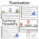 Punctuation Task Cards: question mark or a period