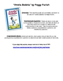 """Teaching Questions and Worksheet for """"Amelia Bedelia"""" by P"""