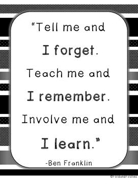 Teaching Quote (Ben Franklin)  *FREEBIE*