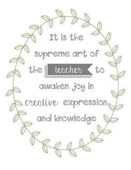 Teaching Quote Poster