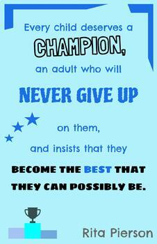 Teaching Quotes: A Champion 2.0