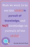 Teaching Quotes: Child in Pursuit of Knowledge