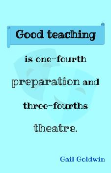 Teaching Quotes: Good Teaching Theatre