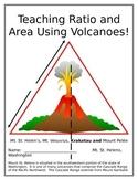 Teaching Ratio and Area Using Volcanoes Bundle
