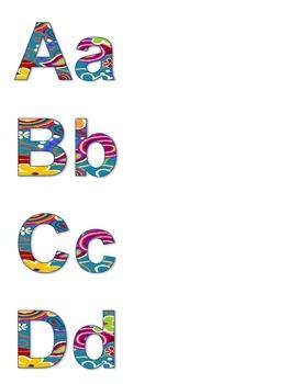 ABC's in Fancy Background
