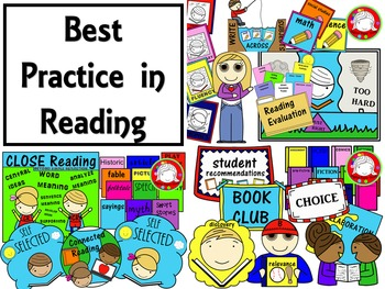 Teaching Reading - Best Practices Clipart (Personal & Comm