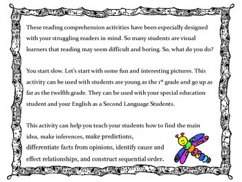 Teaching Reading Comprehesion with Pictures: Low Performing/High Risk Students