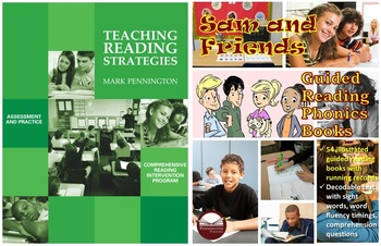 Teaching Reading Strategies Sam and Friends Guided Reading Phonics Books BUNDLE