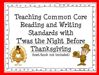 Teaching Reading and Writing Common Core Standards with Thanksgiving Poetry