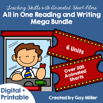 Teaching Reading and Writing Skills with Animated Short Films Mega Bundle