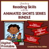 Teaching Reading and Writing Skills with Animated Shorts Pt 1-2 Digital Bundled