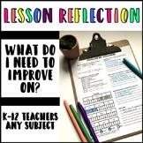 Teacher Reflection Self Assessment and Goal Setting
