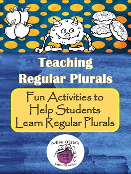 Teaching Regular Plurals ~ All Learning Styles ~ Receptive & Expressive