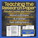 Research Paper Essay Unit - MLA, Plagiarism, Effective Research Skills Lessons