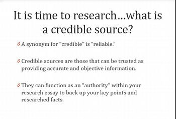 Teaching Research and Research Writing:  Two Powerpoint Presentations
